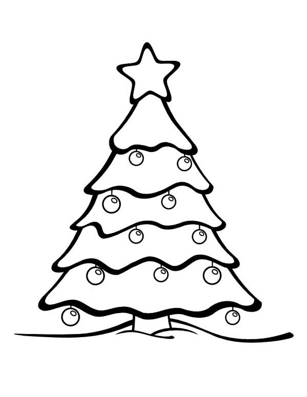 Big Tree Coloring Page Blank