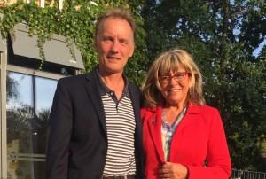 Egil Hulgaard og Lene Bang ser frem til, at der nu igen bliver liv og aktivitet på Farum Hovedgade. Foto: Furesø Kommune.