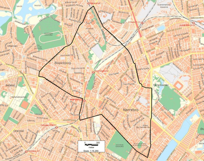 Københavns Politi har forlænget visitationszonen. (Politifoto)