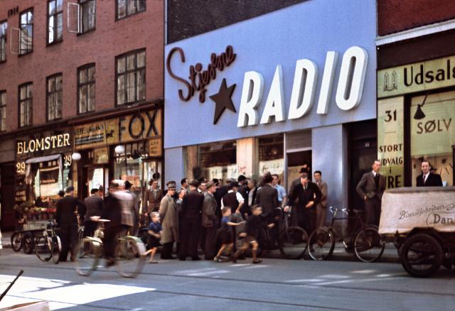 Stjerne Radio i Istedgade genåbner i dag som udstillingslokale for besættelsestiden. Det var bl.a. her, at sabotageorganisationen Holger Danske startede. Arkivfoto: Nationalmuseet.