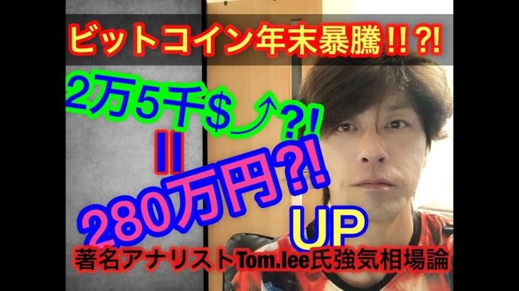 【仮想通貨】ビットコイン2万5千ドル(280万円)4倍へと到達!!?