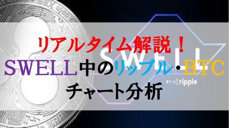 仮想通貨News:リアルタイム解説!リップルカンファレンスSWELL中のXRP・BTCチャート分析
