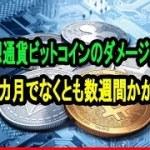 仮想通貨ビットコインへのダメージ回復「数カ月でなくとも数週間かかる」