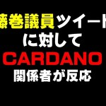 藤巻議員ツイート に対して CARDANO 関係者が反応!!仮想通貨(ADA)で億り人を目指す!近未来戦士ヒロミの暗号通貨ライフ