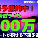 【仮想通貨】ビットコイン100万円まで下落する訳は?チャートが語る下落予告!