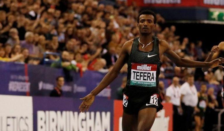 Ethiopian teenager Samuel Tefera smashes 1,500m world indoor record