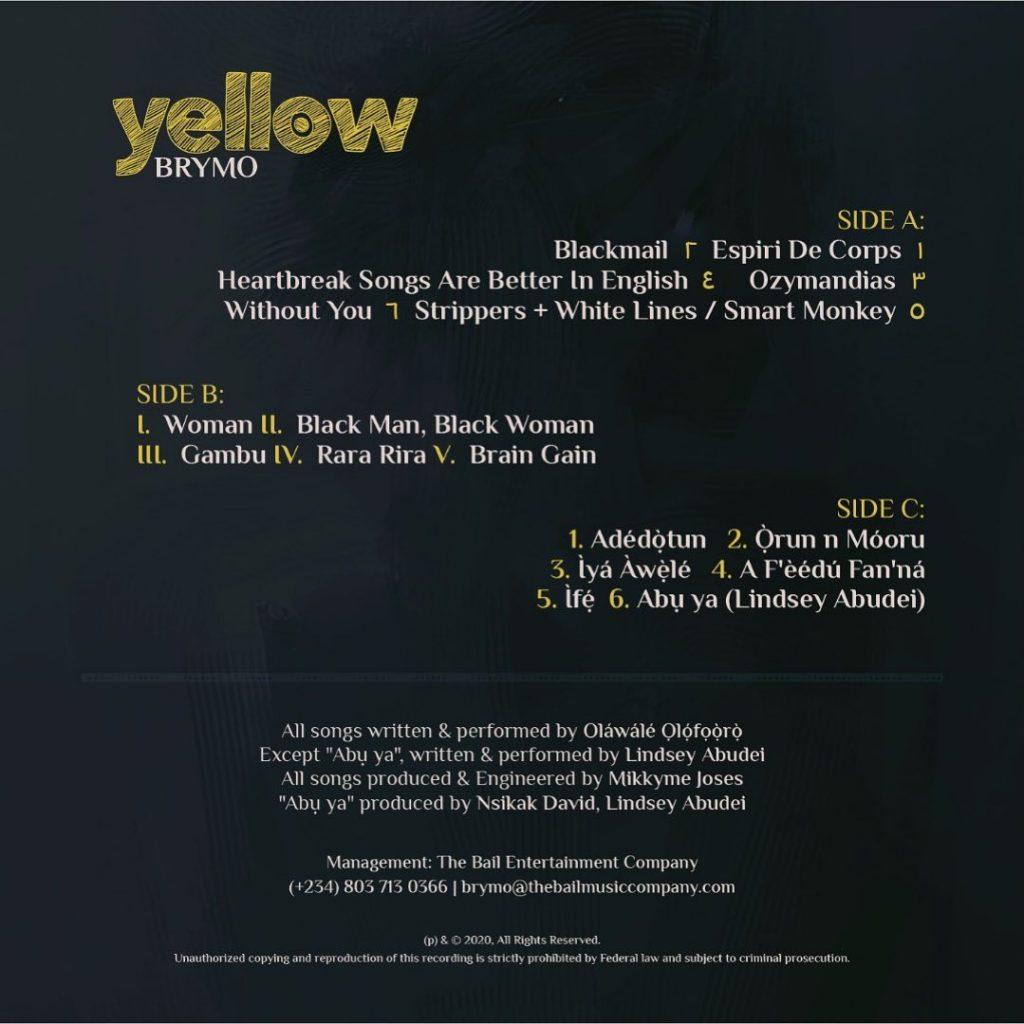 Brymo yellow album