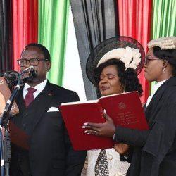 Lazarus Chakwera sworn in