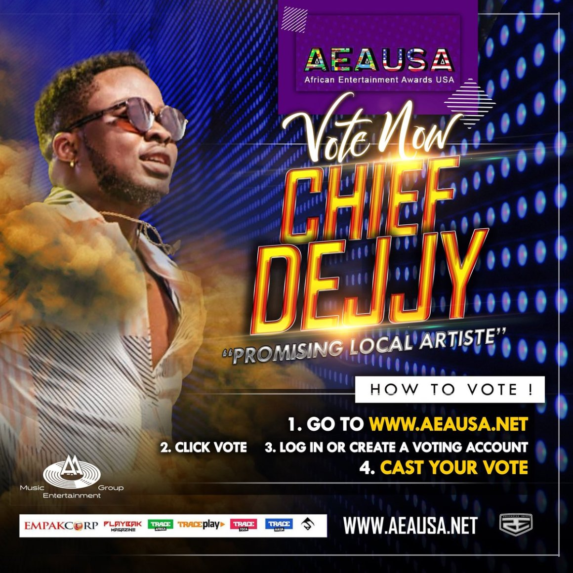 Chief Dejjy earns nomination at 2018 African Entertainment Awards USA