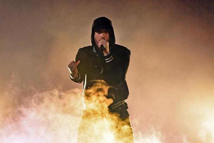 Eminem makes up for lost time in surprise album'Kamikaze'