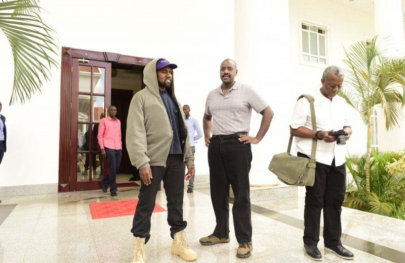 Kim, Kanye West meets Ugandan president Yoweri Museveni