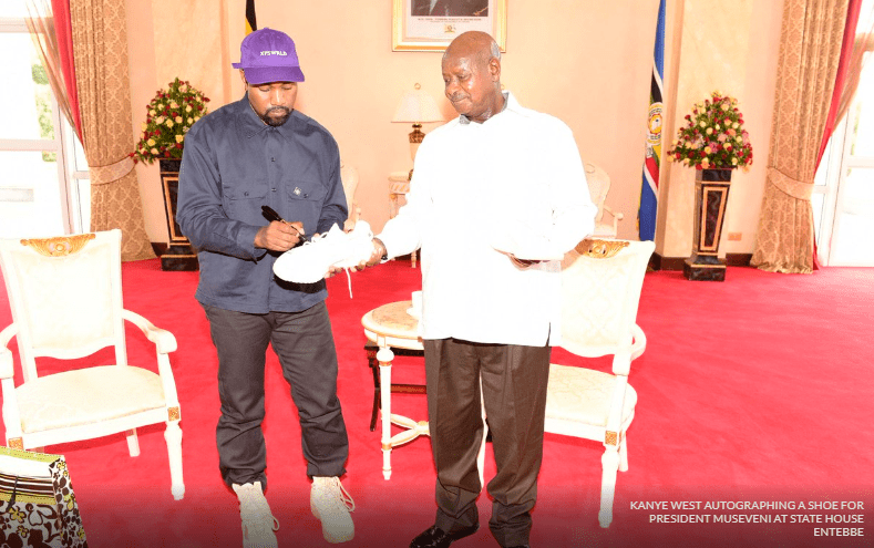 Kim, Kanye West meets Ugandan president Yoweri Museveni 3