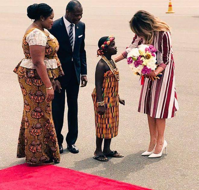 Melania Trump arrives in Ghana - Photos