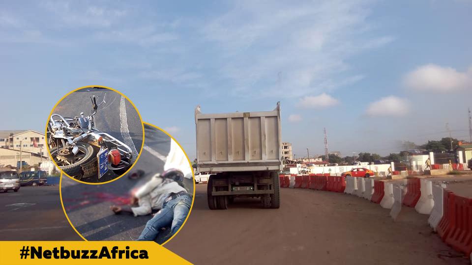 Tema motorway accident: Tipper truck kills Motorcyclist
