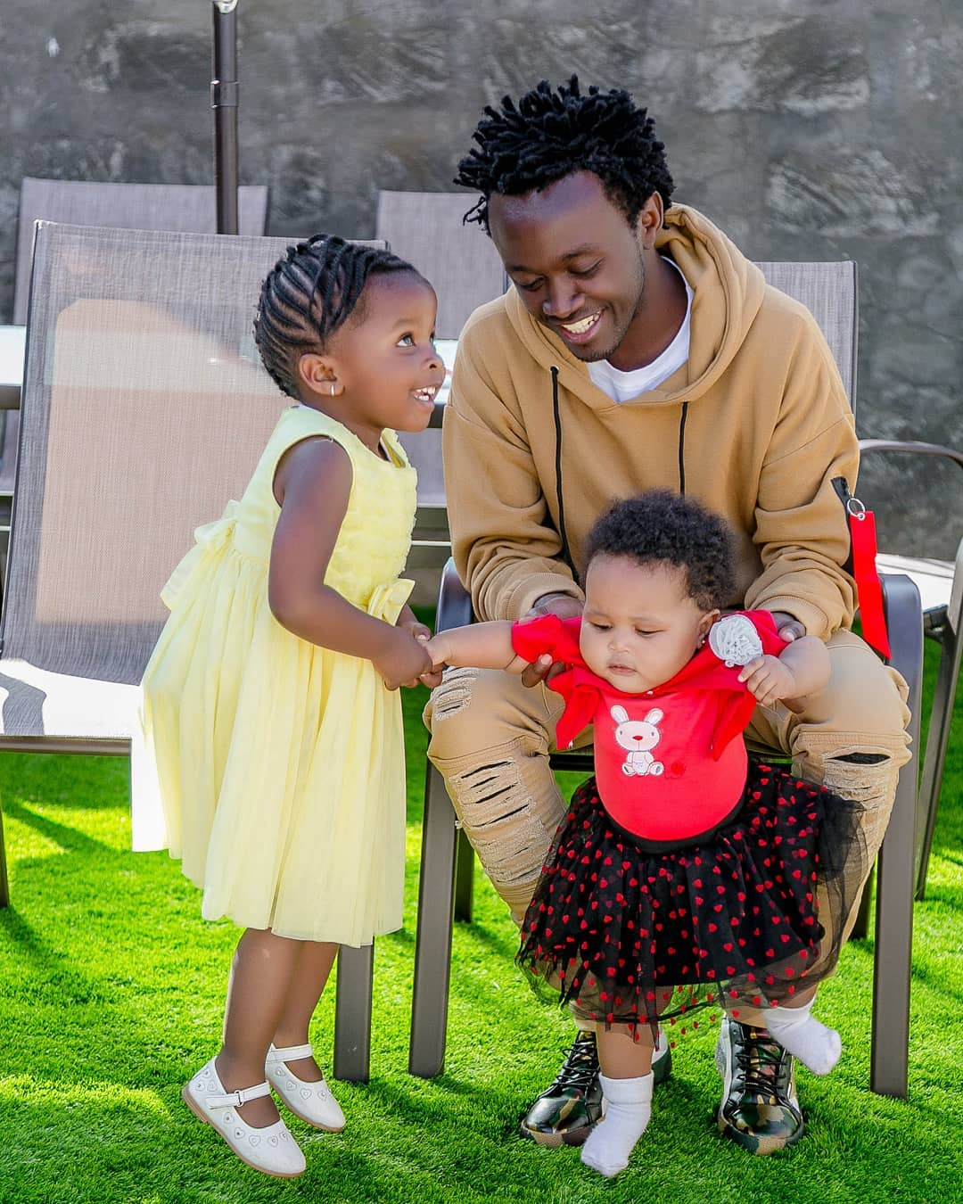 Kenyan Gospel singer Bahati surprises wife with a new house