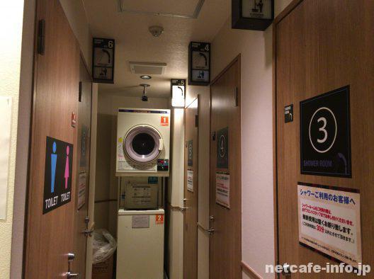 シャワールームは6室あり池袋最大級