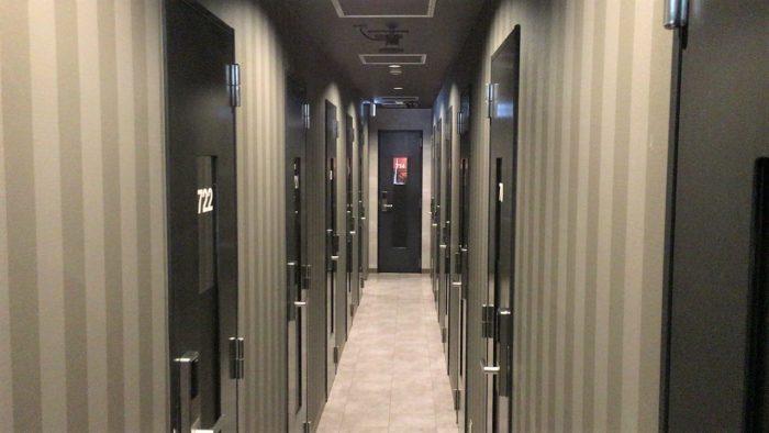 個室はすべてオートロック完備の完全個室