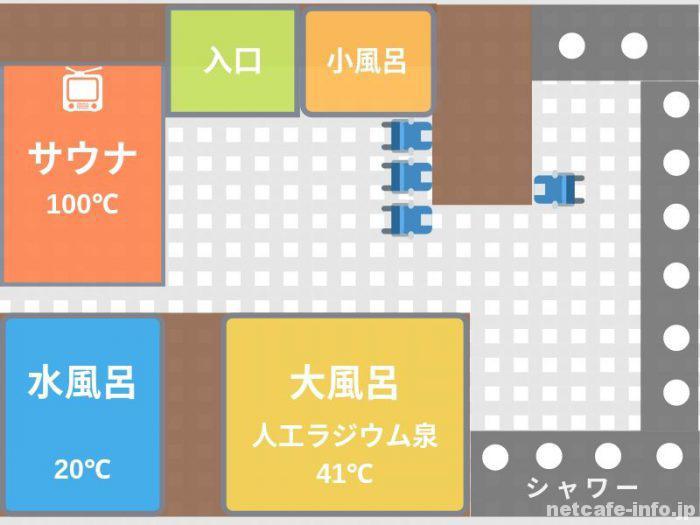 オリエンタル③大浴場・サウナのイメージ図