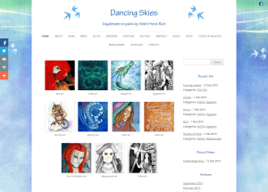 Dancing Skies (portfolio: web design & web development)