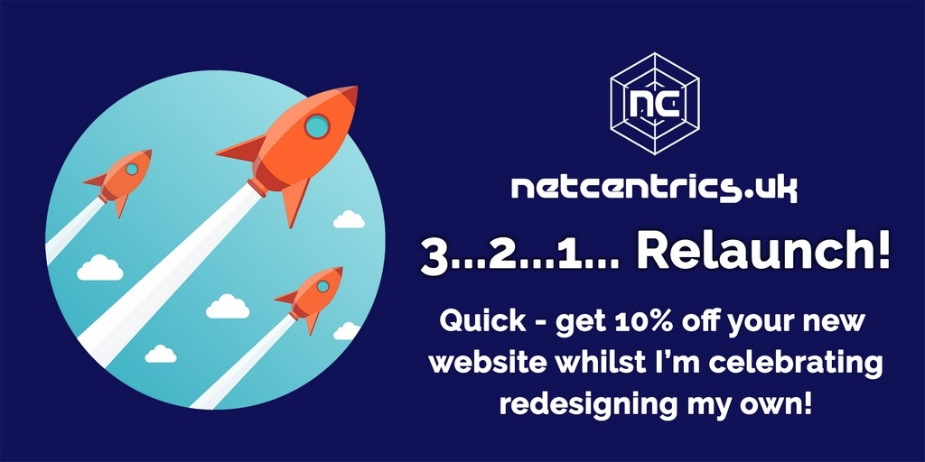 Netcentrics.co.uk relaunch offer