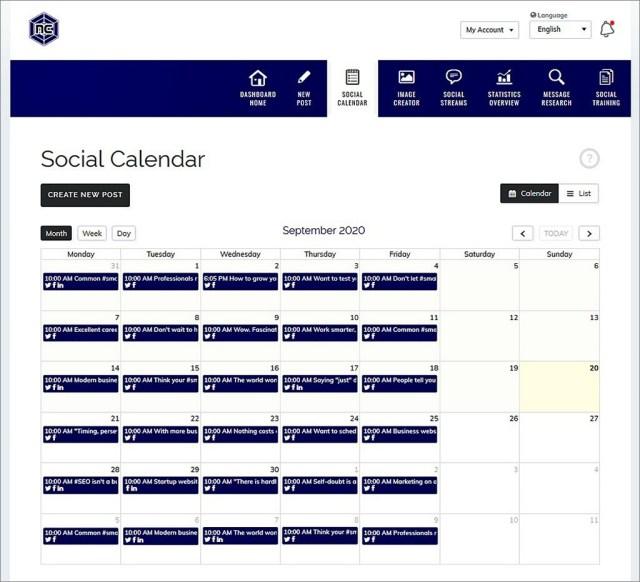 Social Media Marketing Dashboard (click to sign up)