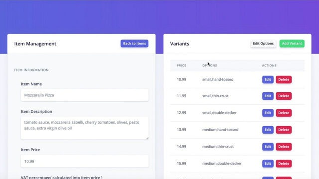 Editing your contactless food menu with a simple online restaurant menu editor