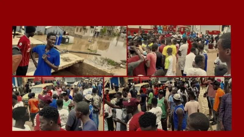 Inondations : exaspérés, les jeunes de Keur Massar bloquent la circulation