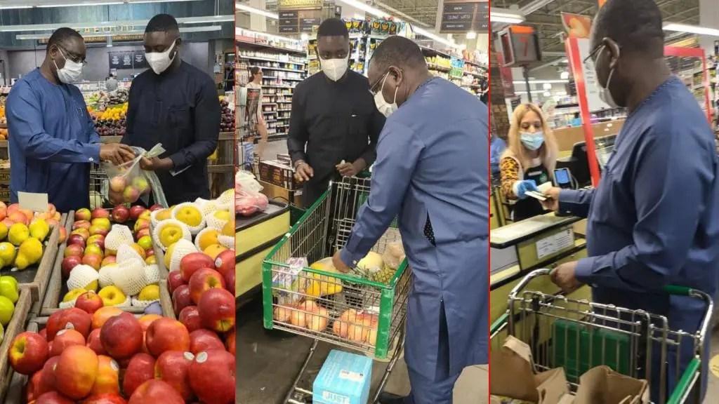 🇺🇸 Arrêt sur images: Quand Macky fait ses emplettes au supermarché avec son fils ibou
