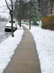 Clear sidewalks of snow and ice