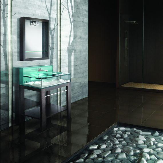 moody aquarium bathroom sink doubles as