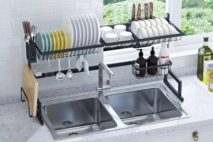langria over sink dish drying rack