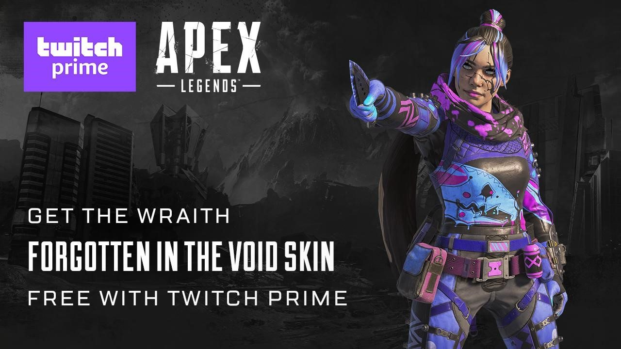 【Apex legends】Twitchプライム会員限定、レイス用のスキン「Forgotten in the Void」を配布中【エーペックスレジェンズ】