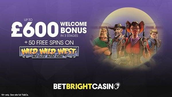 BetBright Casino welcome bonus