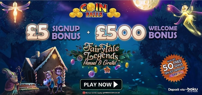 Coin Falls welcome bonus