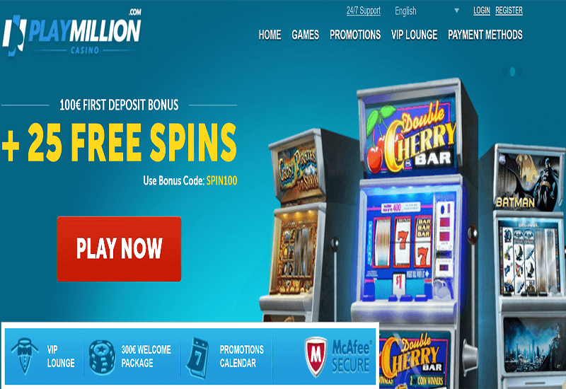Play Milion Casino Home Page