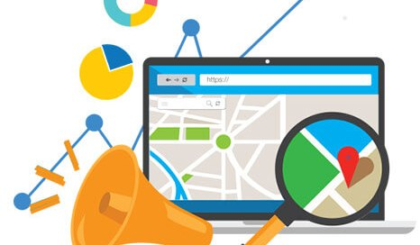 Local SEO main principles and benefits for business graphics