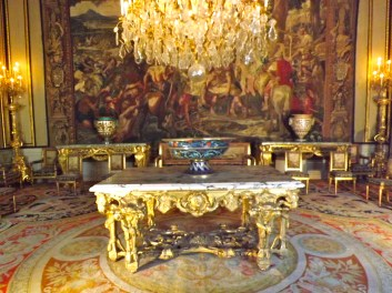 Ornate table and room