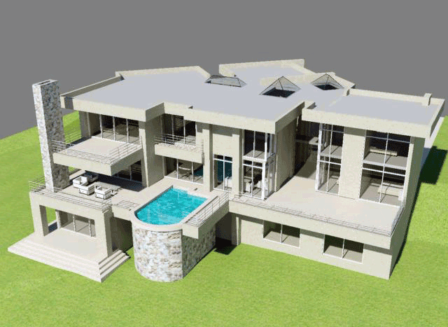 3 Story House Plan With 6 Bedrooms   Building Plans ...