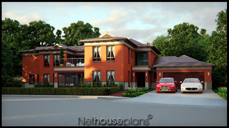 5 Bedroom Two Story House Plan – Bali Style House Floor Plans