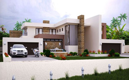 4 bedroom house plan, M497D modern house plan, 497sqm double storey home design, modern architecture style plan, contemporary house plan with photos, 4 car garage, Nethouseplans