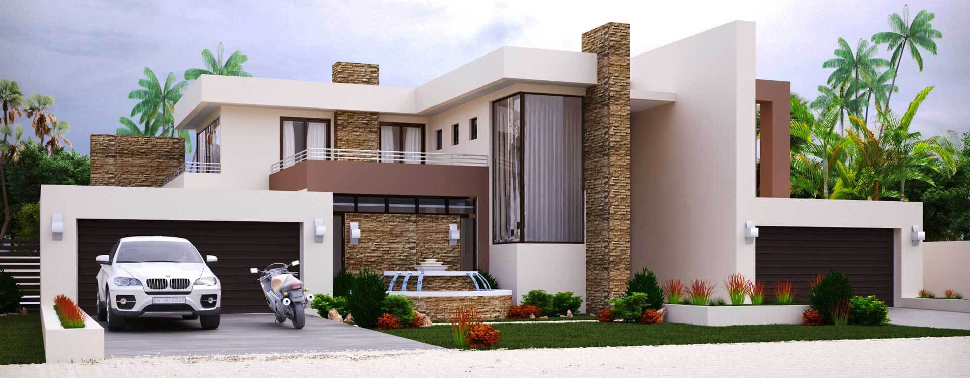 Best Kitchen Gallery: Modern Home Design With 4 Bedrooms House Plans of Modern House Plans South Africa on rachelxblog.com