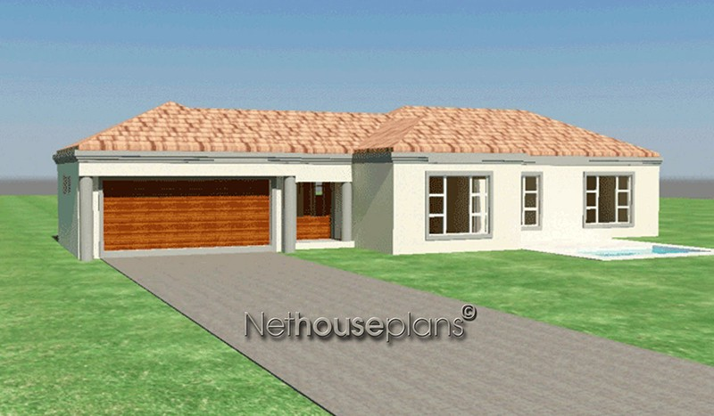 Modern tuscan style house plan, 3 bedroom , single storey floor plans