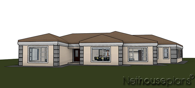 5 Bedroom Modern House Plans South Africa - Zion Star