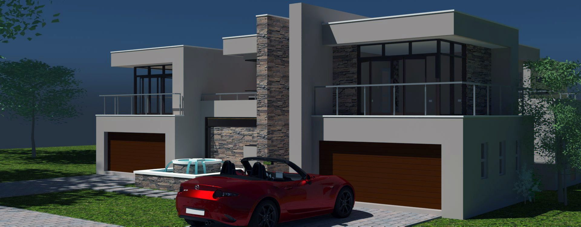 2 storey House Design, modern house plan, 4 car garage house design, contemporary double storey house plan, two storey house plan, Nethouseplans