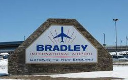 Bradley International Airport sign