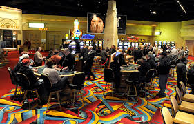 Inside Hollywood Casino, Bangor Maine.