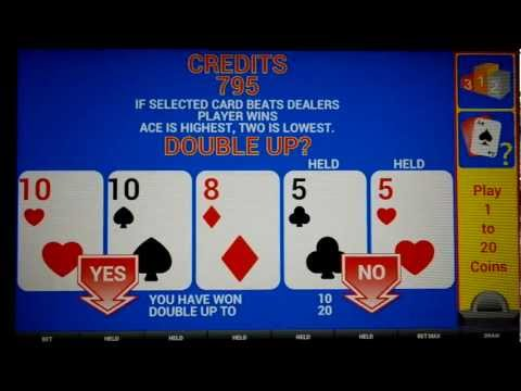 Double Up Option on Video Poker Machines