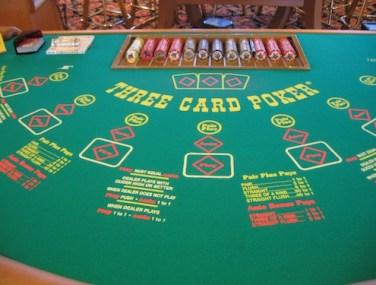 Three Card Poker Table