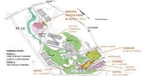 Layout of the Massive Tauton Casino Resort Plan