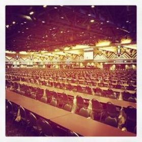 The finished 3600 seat Bingo Hall was the keystone that the World's largest casino would be built around